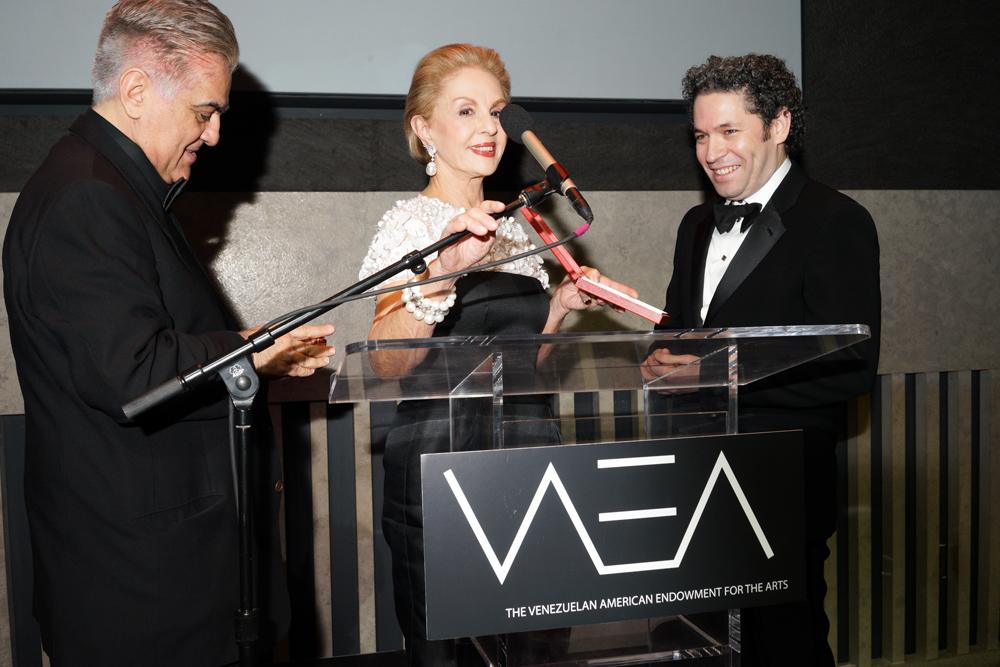 Ali Cordero Casal, Gustavo Dudamel, Carolina Herrera