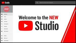 YouTube Studio Page