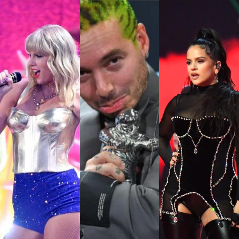 MTV VMAs 2019, J Balvin, Taylor Swift, Rosalía