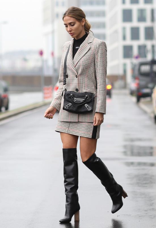 blazer y falda