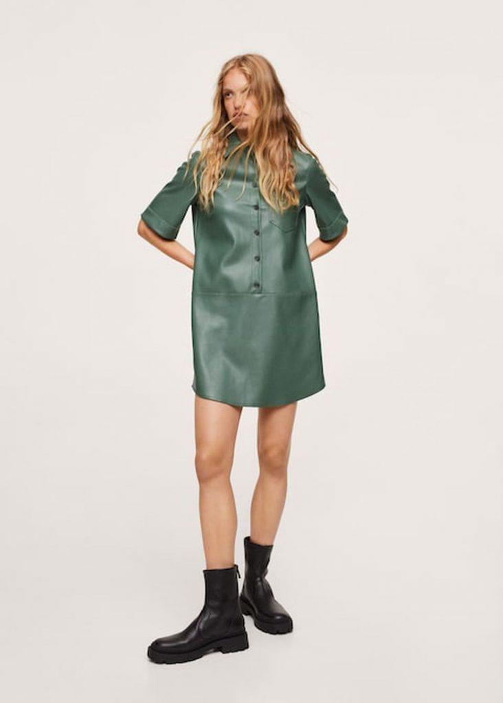 vestidos de cuero